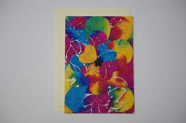 Multi Color Flowers Envelope