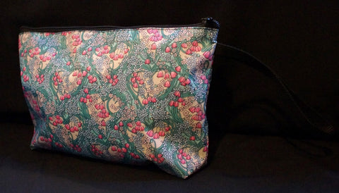 7304 Flower Bag Turquoise & Pink
