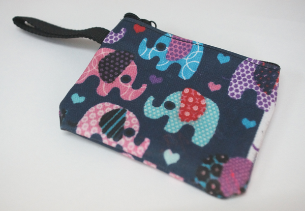 Coin Purse Elephant Blue or Turquoise