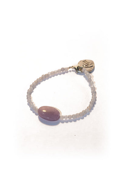 Beads Lavender with Tamar Heart