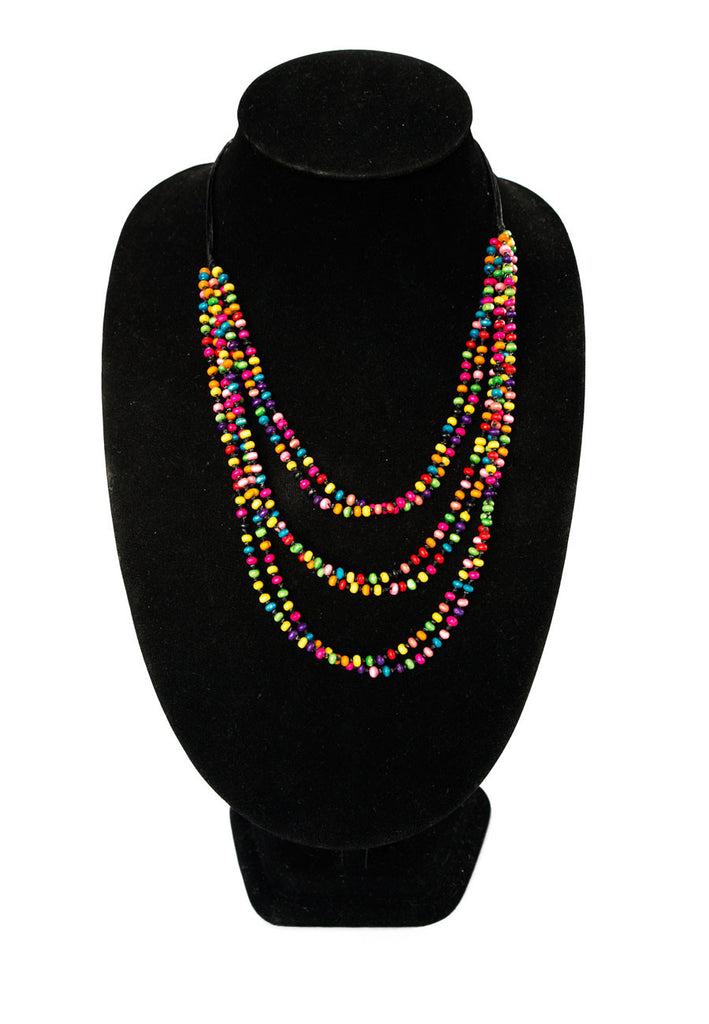 Multicolored Wood Beaded