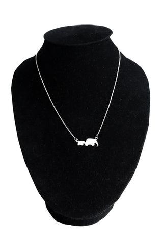 Two Elephants - 925 Sterling Silver