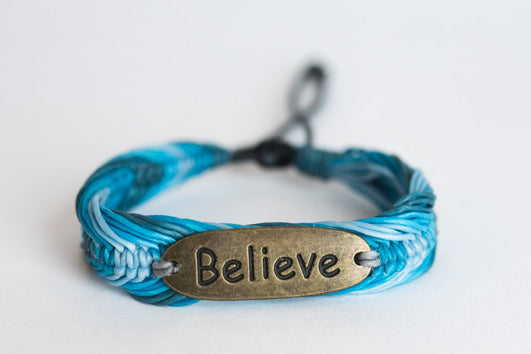 Believe Bracelet Blue (Also available in White/Beige)