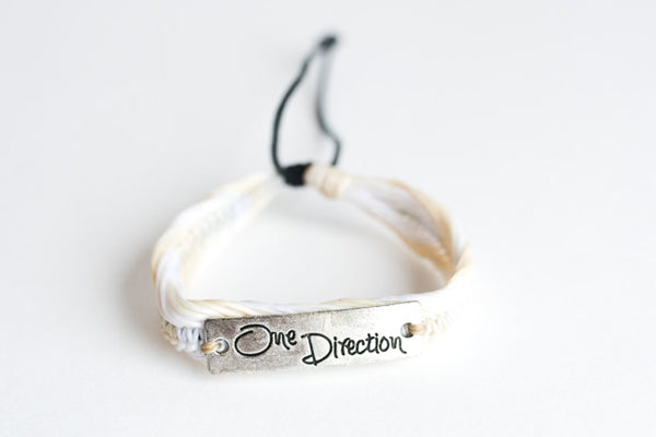 One Direction Bracelet White/Beige (Also available in Blue)