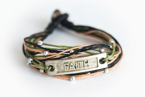 Faith Bracelet (Different Colors Available)
