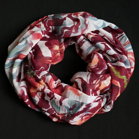 Bordeaux colored scarf