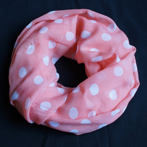 Pink with white dots (9214)