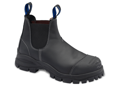 Blundstone #990 Black Leather Boots (Steel Toe)