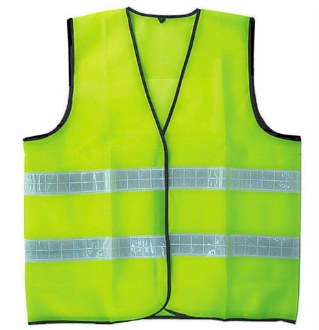 Safety Vest with Reflective - 100% polyester .