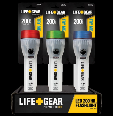 Life+Gear Glow LED Water Resistant Flash Light 200hrs (LG340)