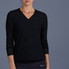 Blues V-neck Pullover (black)