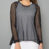 Black Sheer Pullover Top