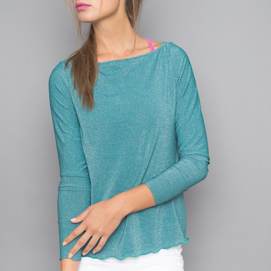 Mosaic Boat-neck Pullover