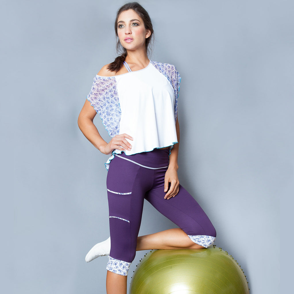 Lavender Field Circle Top