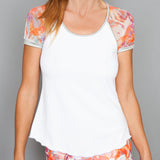 Catalina Cap Sleeve Top (white)