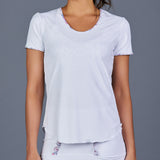 Boho Luxe T-Shirt Top (White)