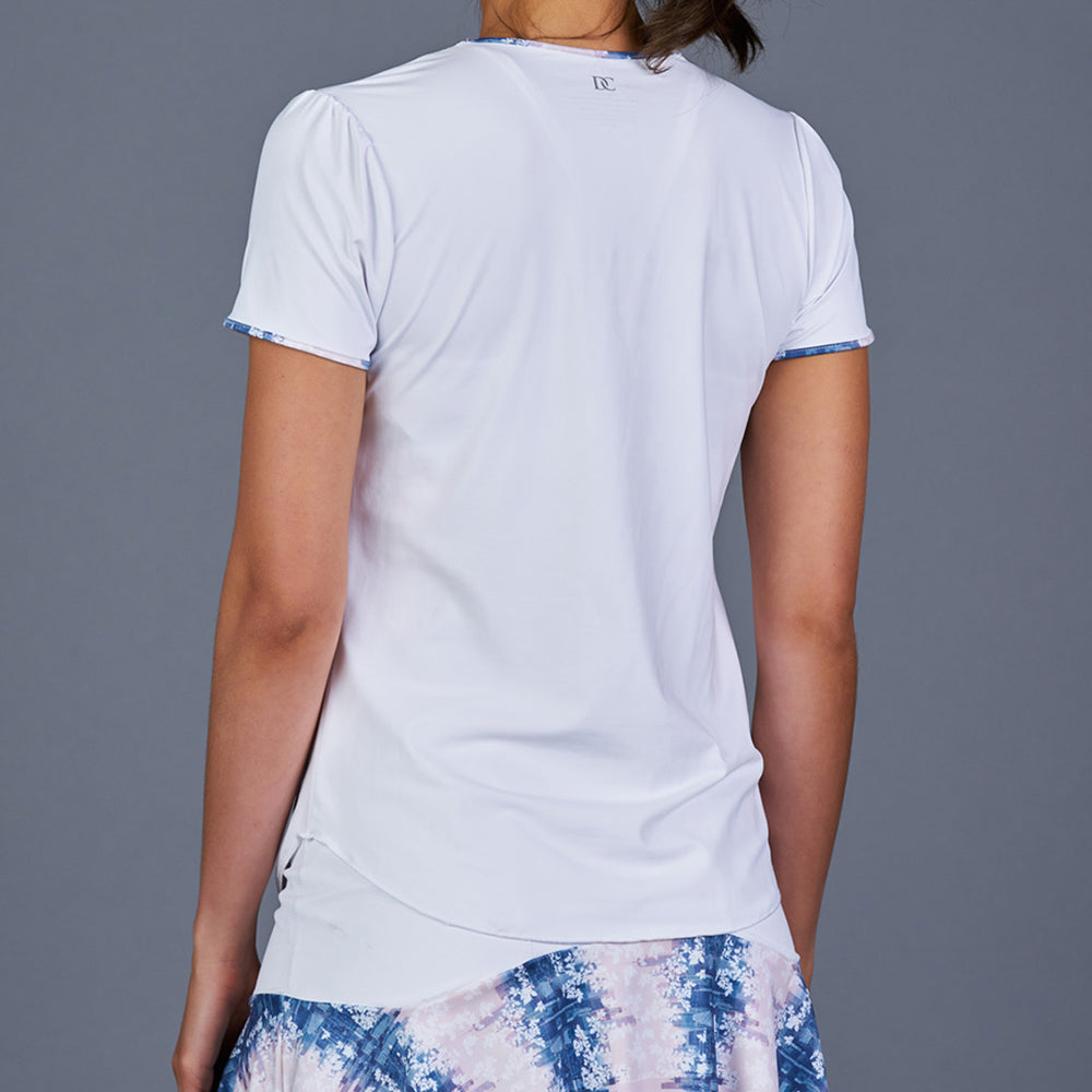 NY Square T-Shirt Top (White)