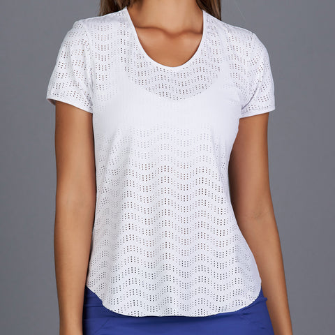 Royal Sport Short-Sleeve Collar Top (white)