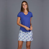 Royal Sport Gathered-sleeve Tee (blue)