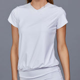 Luna White Vest Top