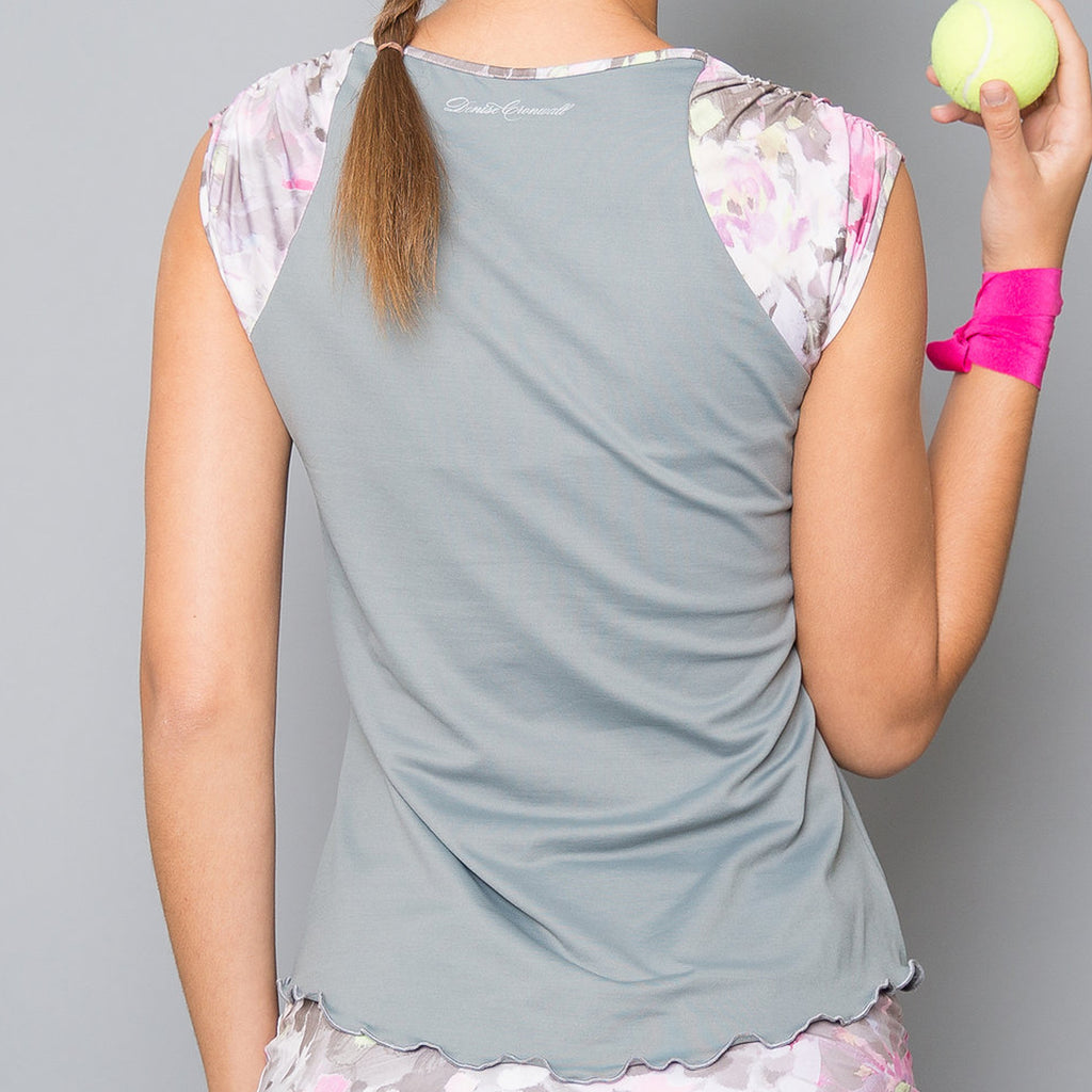 Wyn Short-Sleeve Top (grey)