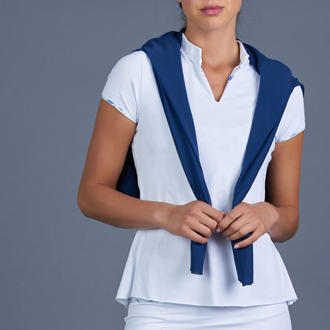 Blues Spaghetti-Strap Top (white)