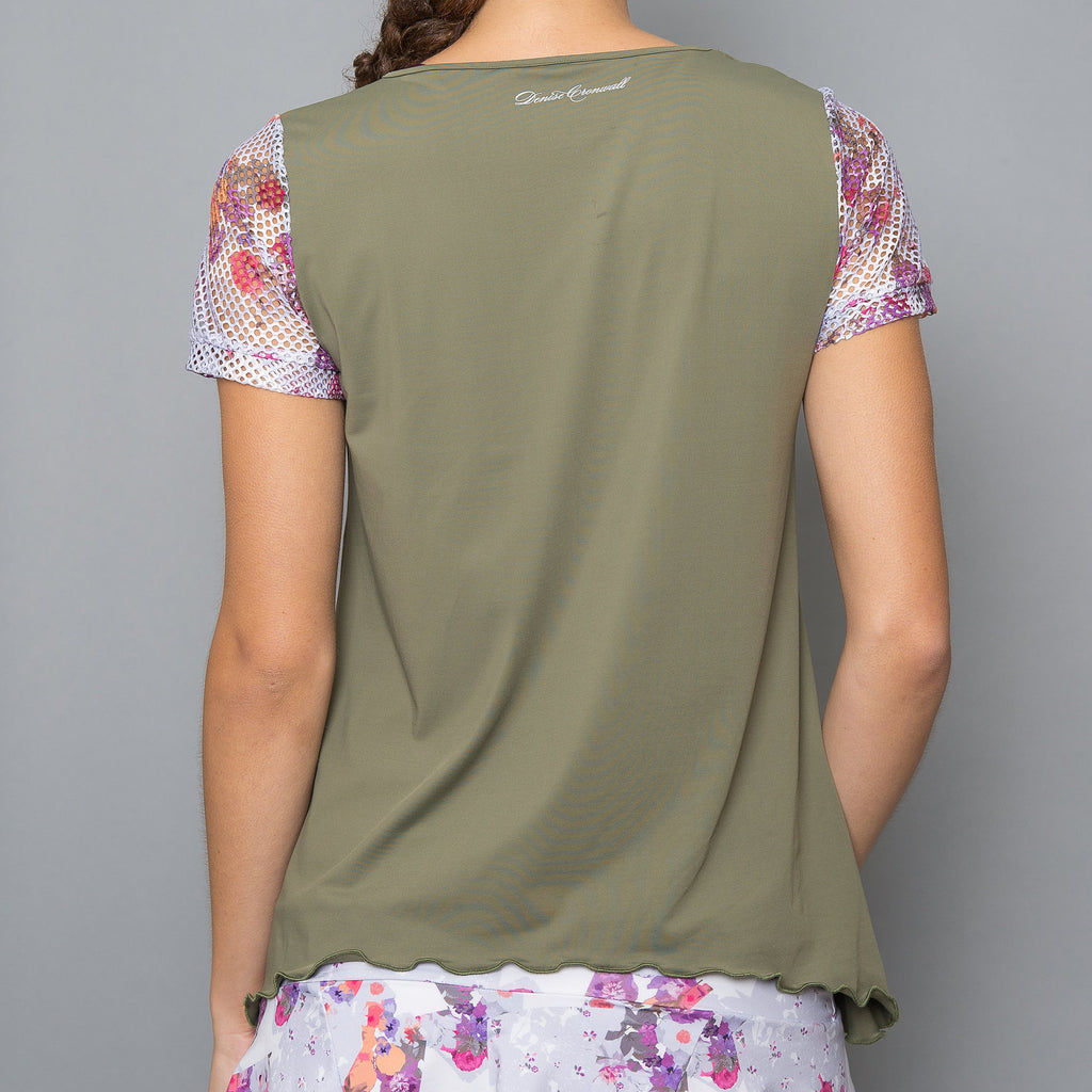 Army of Lovers Cap-Sleeve Top (green)