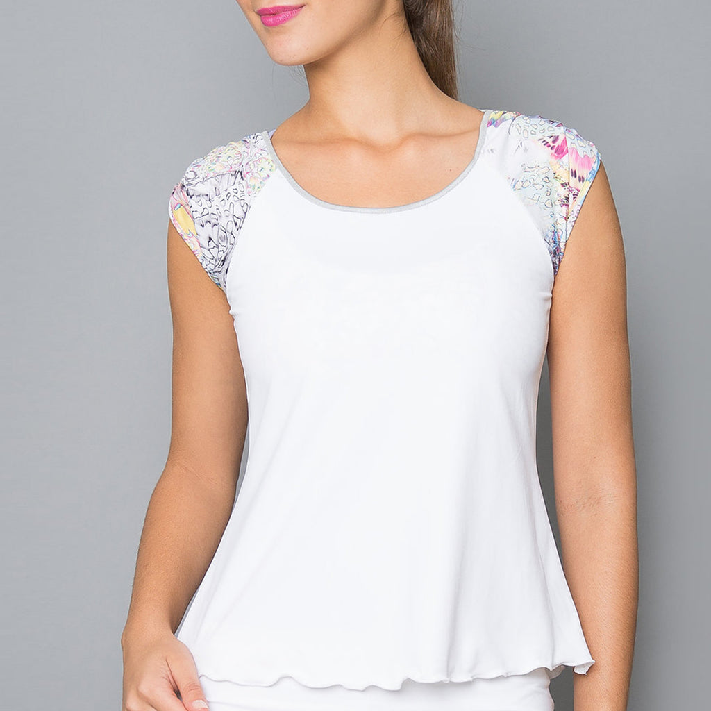 Edge Short-Sleeve Top (white)