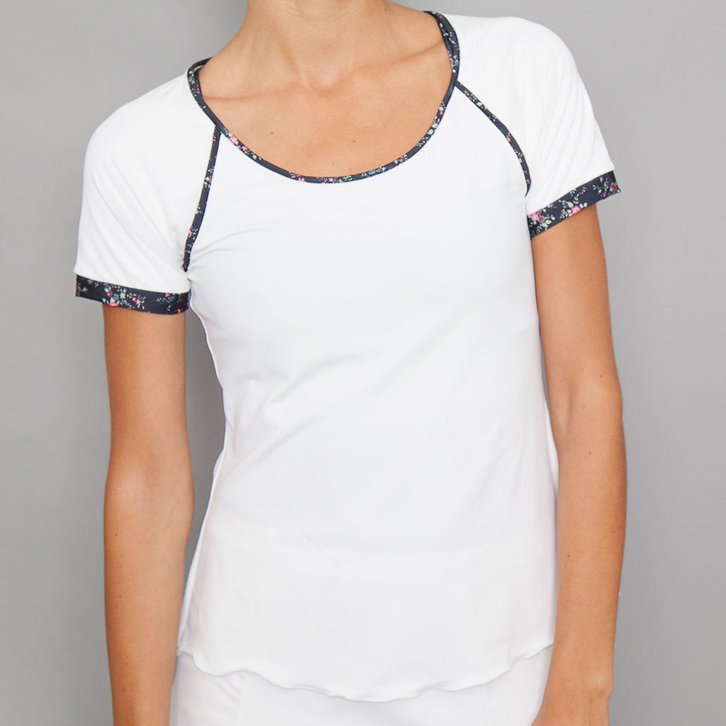 Villia Cap-Sleeve Top (white)