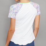 Neo Cap-Sleeve Top (white)