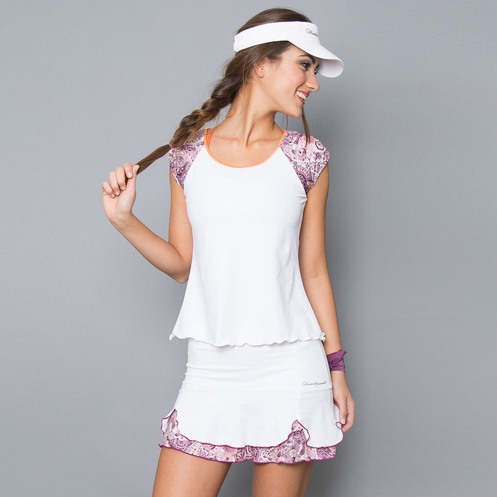 Mulberry Short-Sleeve Top (white)