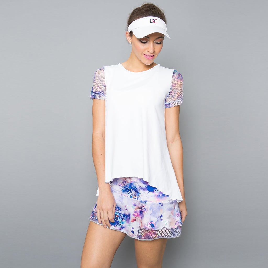 Mystical Cap-Sleeve Top (white)