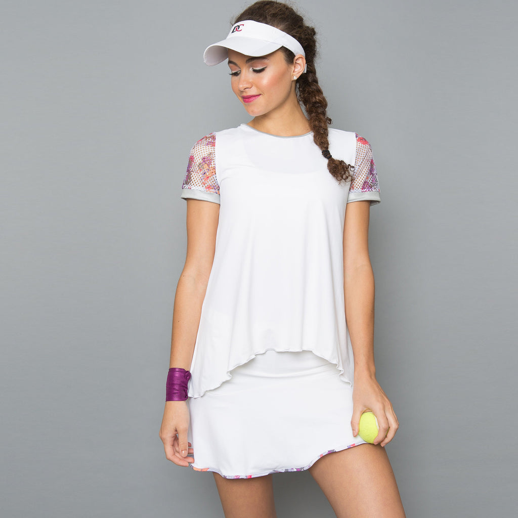 Army of Lovers Cap-Sleeve Top (white)