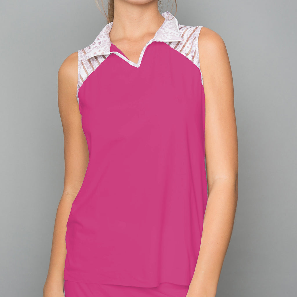 Sienna Collar Top (raspberry)
