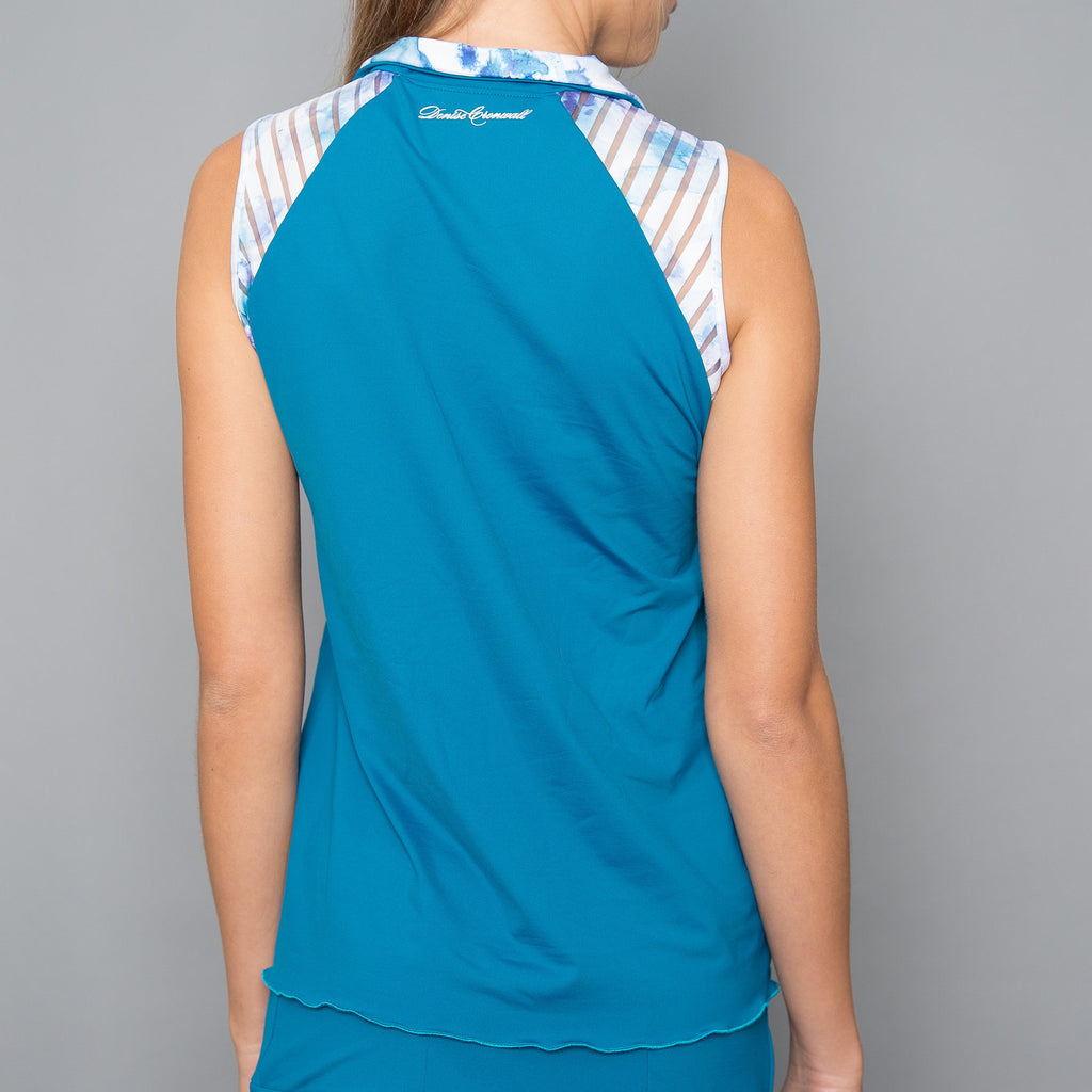 Trista Collar Top (teal)