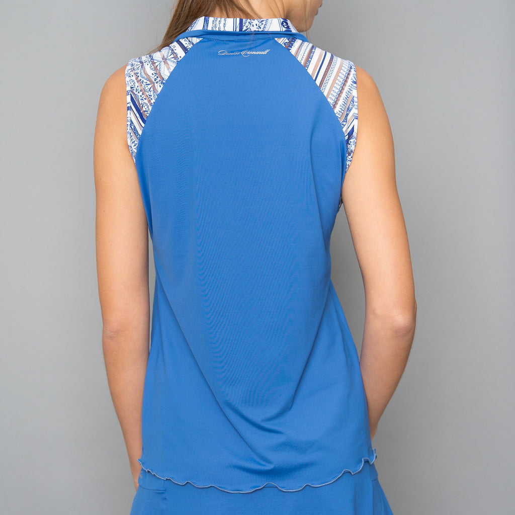 Nordica Collar Top (blue)