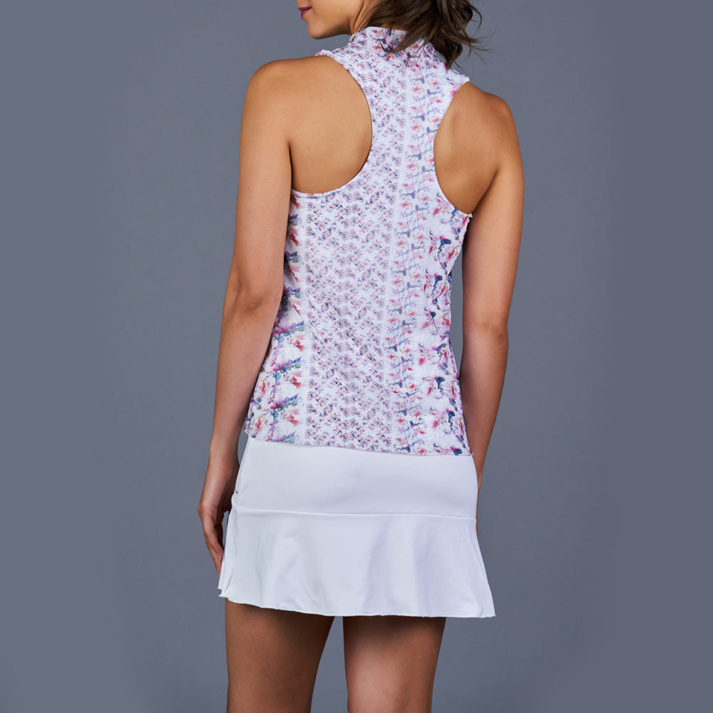 Boho Luxe Tennis Dress (White/Print)