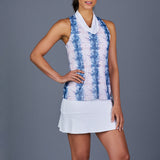NY Square Golf Dress (White/Print)