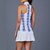 NY Square Tennis Dress (White/Print)