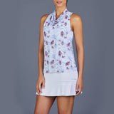 Spring Marble Golf Dress (White/Print)