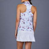 Spring Marble Tennis Dress (White/Print)