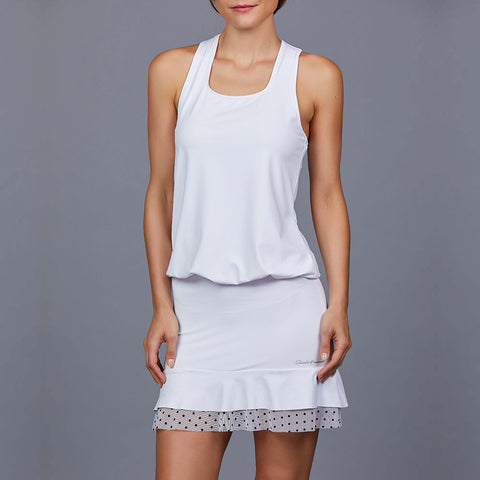 Luna White Adjustable Length Back-pocket Dress