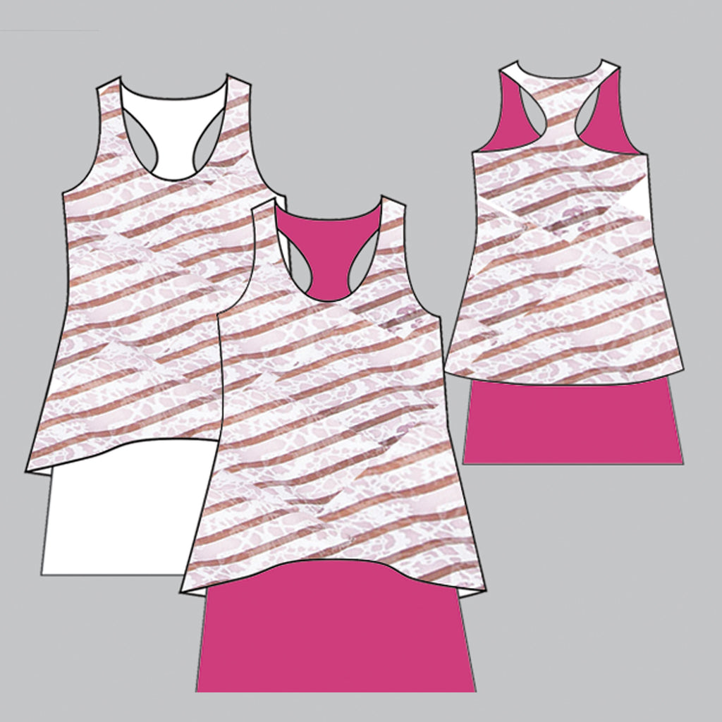 Sienna Tennis Dress (raspberry)