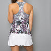 Vivid Dark Tennis Dress (white)