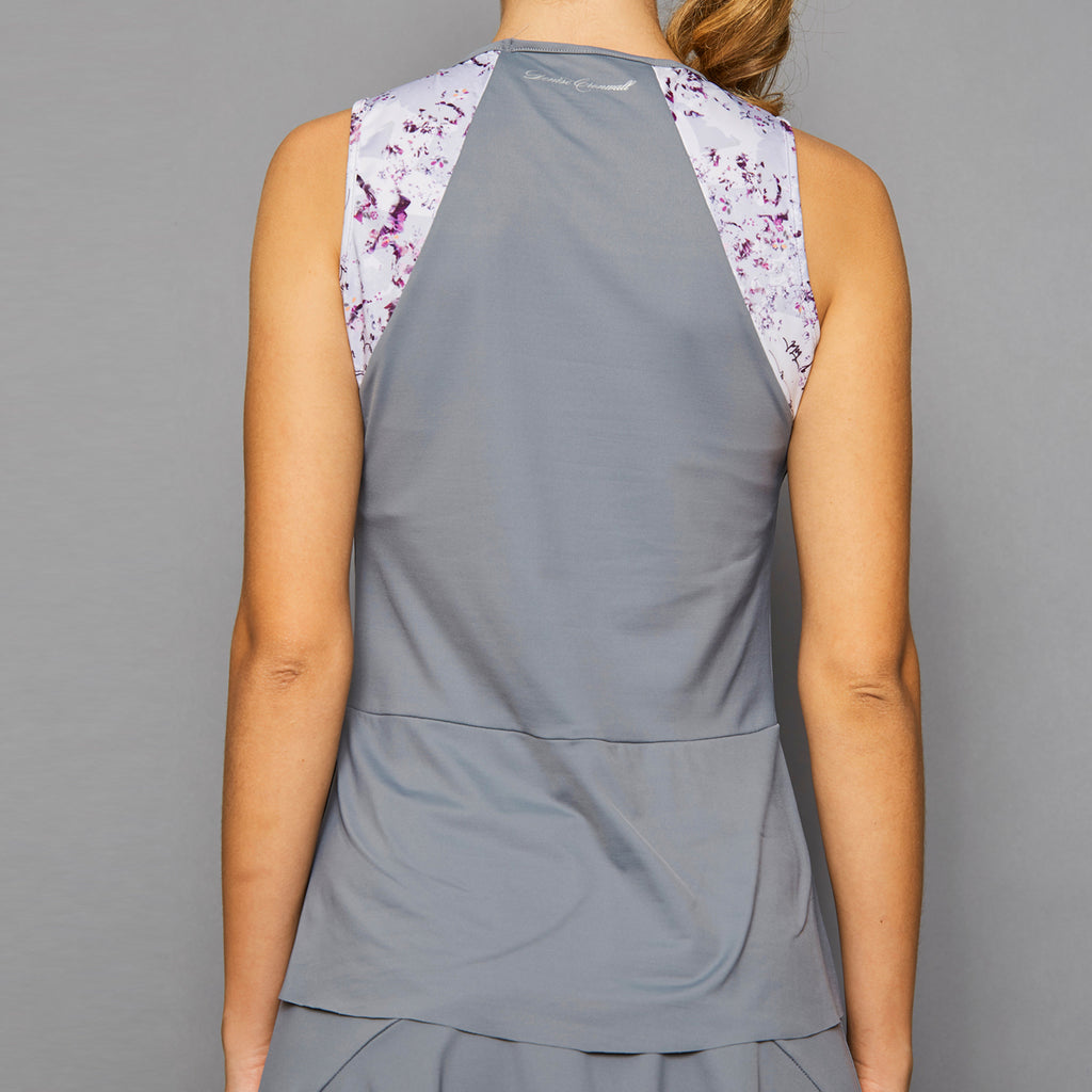 Rhapsody Tank Top w/print (grey)