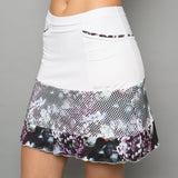 Vivid Dark Long Skort (white)