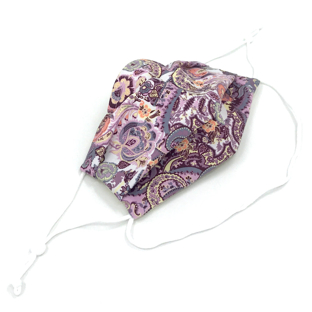 Ear-Loop Face Cover - Mulberry Print