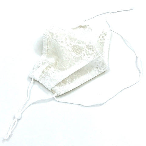 Ear-Loop Face Cover - White