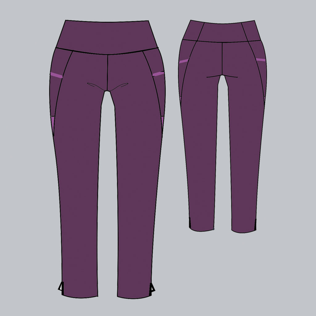 Mulberry Inverted Pocket Legging