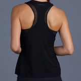 Blues Mesh Layered Racerback Top (black)